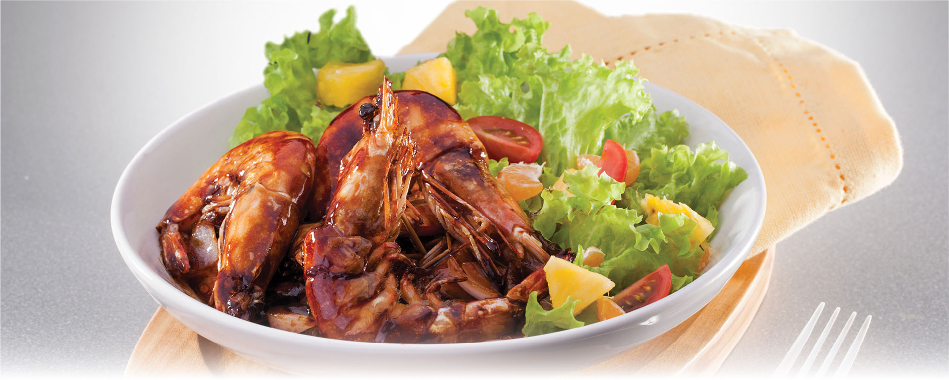 Big Prawns In Thick Soy Sauce
