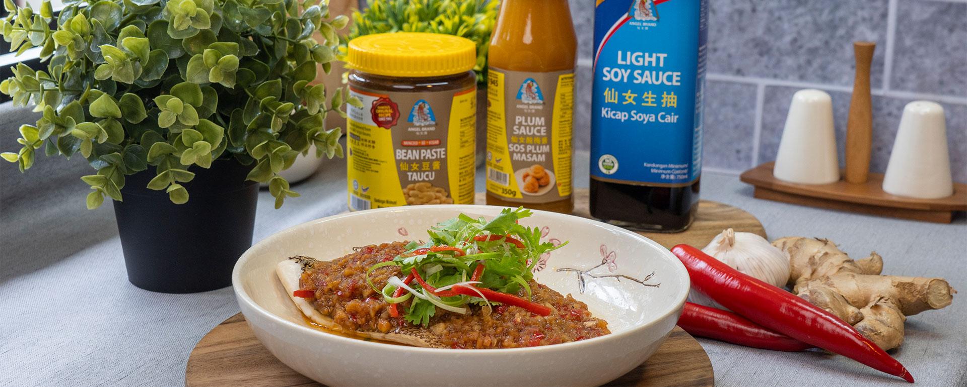 Spicy-Bean-Paste-Steamed-Fish